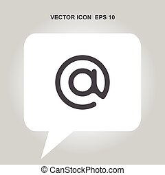 email or at vector icon