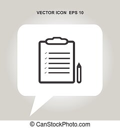 note sign with pen vector icon