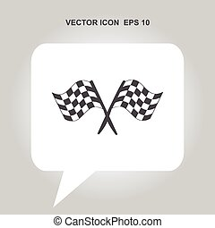 racing flag vector icon