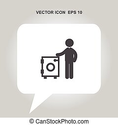 laundry and dry cleaning vector icon