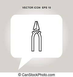 pliers vector icon