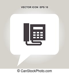office phone vector icon