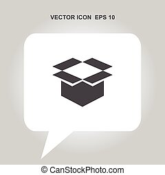 open box vector icon