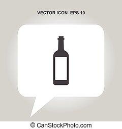 wine bottle vector icon