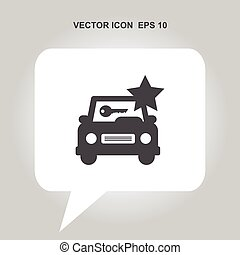 car rental vector icon
