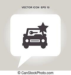 car rental vector icon