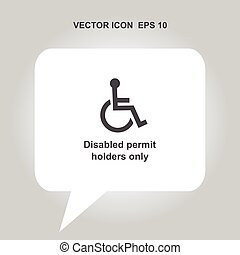 disabled permit holders only vector icon