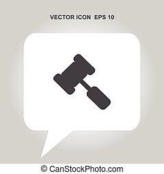 hammer vector icon