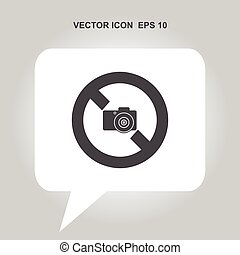 no camera vector icon