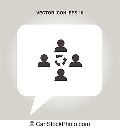 communication concept vector icon