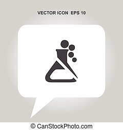 flask vector icon