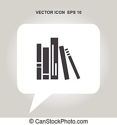 book spine vector icon
