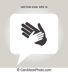 helping hands vector icon