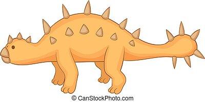 Styracosaurus icon, cartoon style