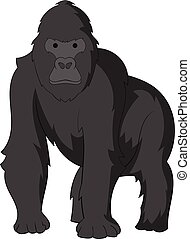 Gorilla icon, cartoon style - Gorilla icon. Cartoon...