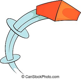 Throw a brick icon, cartoon style - Throw a brick icon....