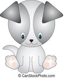 Dog vector - illustration of isolated cartoon dog on white...