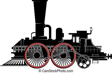 old steam locomotive - strange, fantastic steam locomotive...