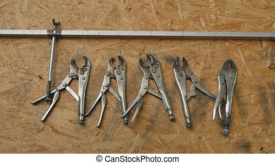 Many Tools on dirty floor, Set Craftsman tool , mechanical...