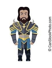 Fantasy Knight Character Vector Illustration. - Fantasy...