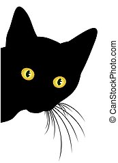 Predatory black cat. - Predatory glance home a black cat.