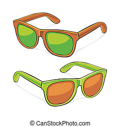 sun glasses - fully editable vector illustration of sun...
