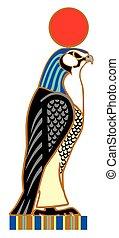 Egyptian falcon horus - Egyptian falcon Horus. Sky god in...
