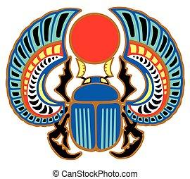 scarab egyptian beetle - Egyptian scarab beetle. Sacked bug...