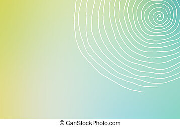 hand painted twirl on color background - minimalistic design
