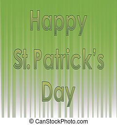 Happy St. Patricks Day Banner. Green Text on Green Wave...