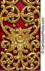Wood craft Thai classic pattern - Gold Wood craft Thai...