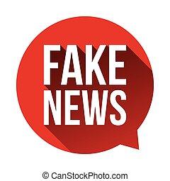 Fake News Warning speech bubble