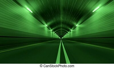 Tunnel Road Driving Fast Endless Seamless Loop 4K