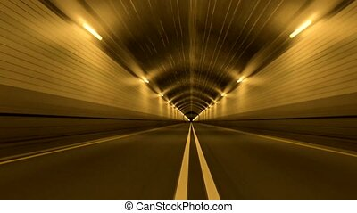 Tunnel Road Driving Fast Endless Seamless Loop