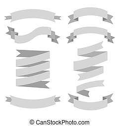 Vector set of different colors ribbons.
