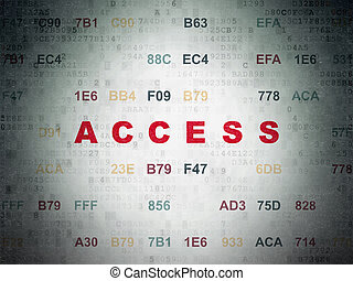 Security concept: Access on Digital Data Paper background -...