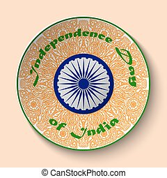 Independence day India, Stylish design element for 15th...