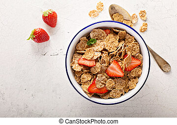 Multigrain healthy cereals with fresh berry - Multigrain...