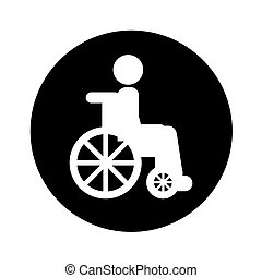 wheelchair with patient icon