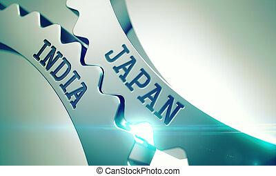 Japan India - Message on Mechanism of Metallic Cog Gears....