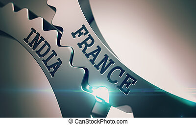 France India - Text on the Mechanism of Metallic Gears. 3D....