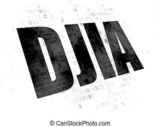 Stock market indexes concept: DJIA on Digital background