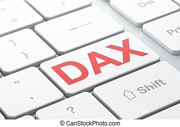 Stock market indexes concept: DAX on computer keyboard...