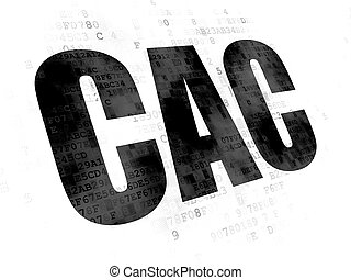 Stock market indexes concept: CAC on Digital background