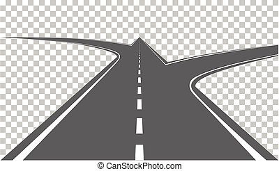 Road with white markings