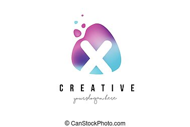 X Letter Dots Logo Design with Oval Shape. - X Letter Dots...