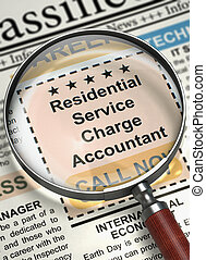 Residential Service Charge Accountant Hiring Now. 3D. -...