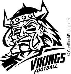 vikings football player team design for school, college or...