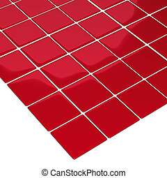 red checker board