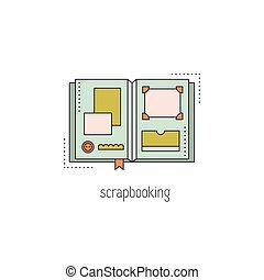 Scrapbooking line icon